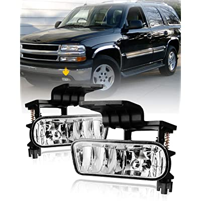 Fog Lights for 99-02 Chevy Silverado 1500 2500/00-06 Suburban Tahoe with Bulbs 899 12V 37.5W AUTOFREE Fog Lamps Assembly- 1 Pair (Clear Lens): Automotive