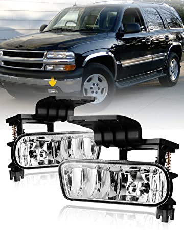 amazon com fog lights for 99 02 chevy silverado 1500 2500 00 06 suburban tahoe with bulbs 899 12v 37 5w autofree fog lamps assembly 1 pair clear lens automotive fog lights for 99 02 chevy silverado 1500 2500 00 06 suburban tahoe with bulbs 899 12v 37 5w autofree fog lamps assembly 1 pair clear lens