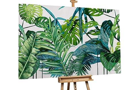 Kunstloft® Extraordinario Cuadro al óleo Bosque de Hojas ...
