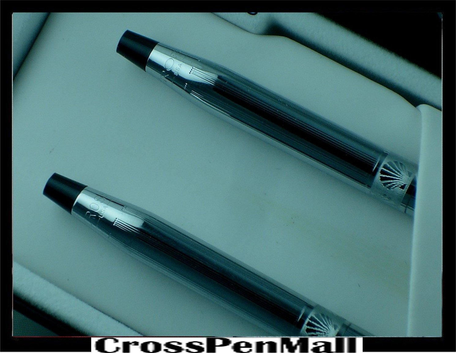 Cross Made in the USA Classic® Century® Lustrous Chrome Corporate Ladies' Ball-point Pen and 0.5mm Pencil Set