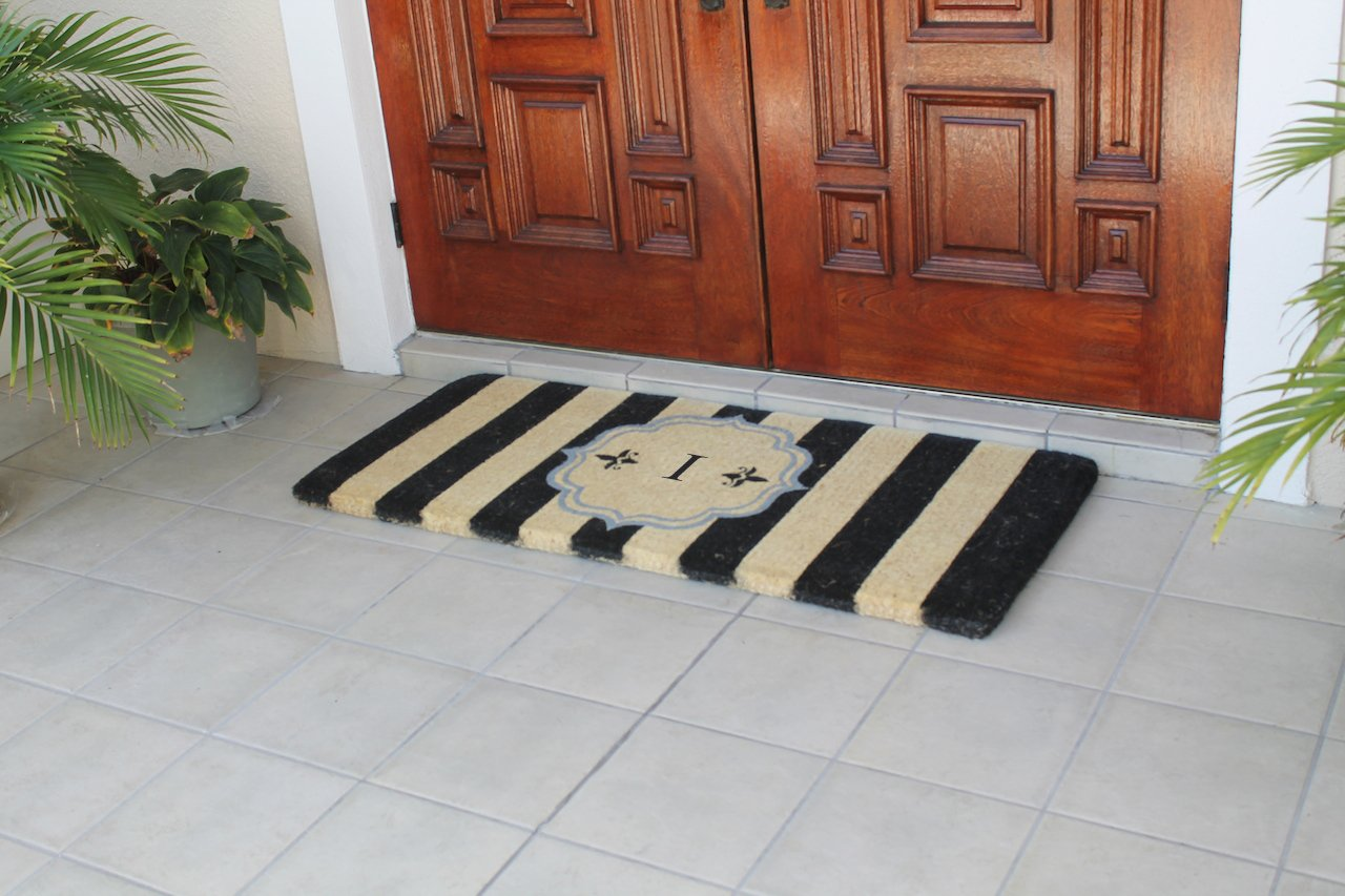 First Impression Haywood Monogrammed Entry Double Doormat-A1HOME200105-I by A1 Home Collections