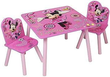 Table Chaises Avec Disney Minnie Mouse Designs Enfants Et Finition lFK1TJc