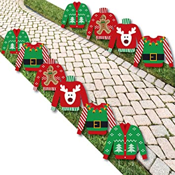 ugly sweater sweater lawn decorations outdoor holiday christmas yard decorations 10 piece - Discount Outdoor Christmas Yard Decorations