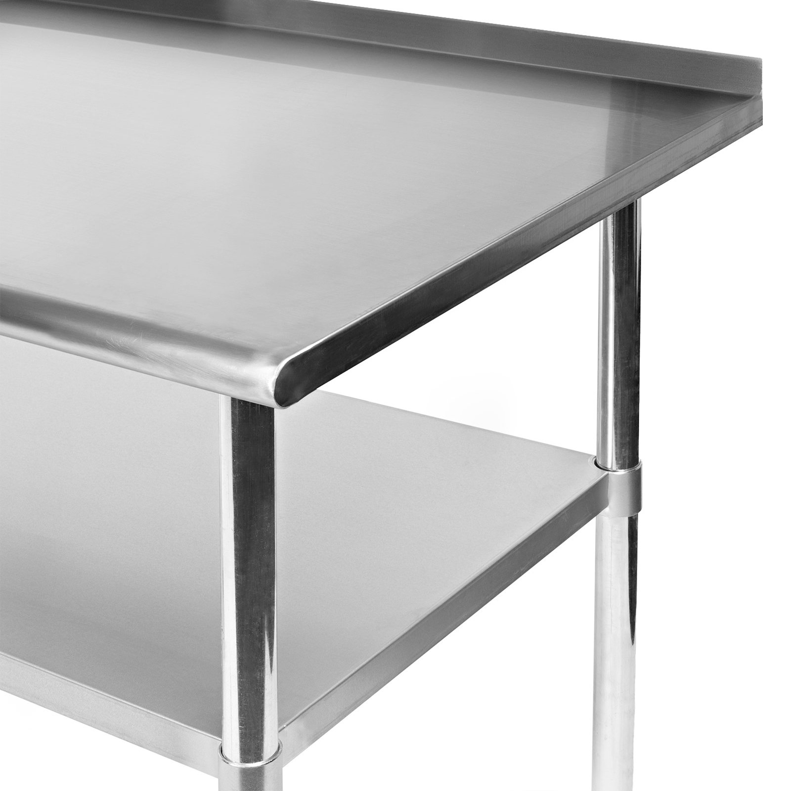 Gridmann Stainless Steel Commercial Kitchen Prep & Work Table w/ Backsplash - 30'' x 24'' by Gridmann (Image #3)