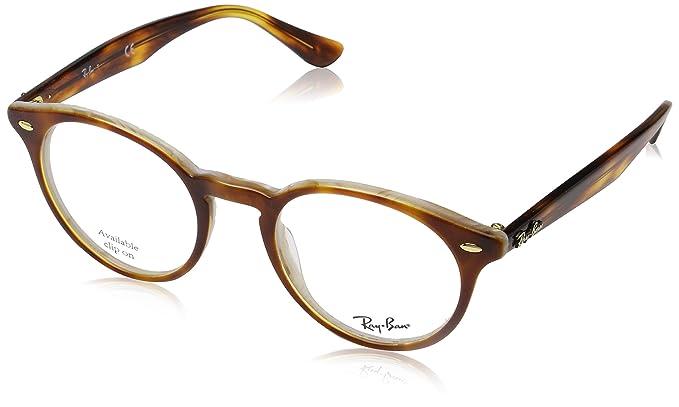 Ray-Ban 0Rx2180V, Monturas de Gafas para Hombre, Dark Havana, 47