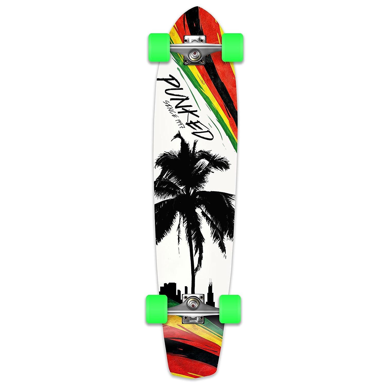Amazon.com: punked Palm City Rasta – Longboard – Monopatín ...