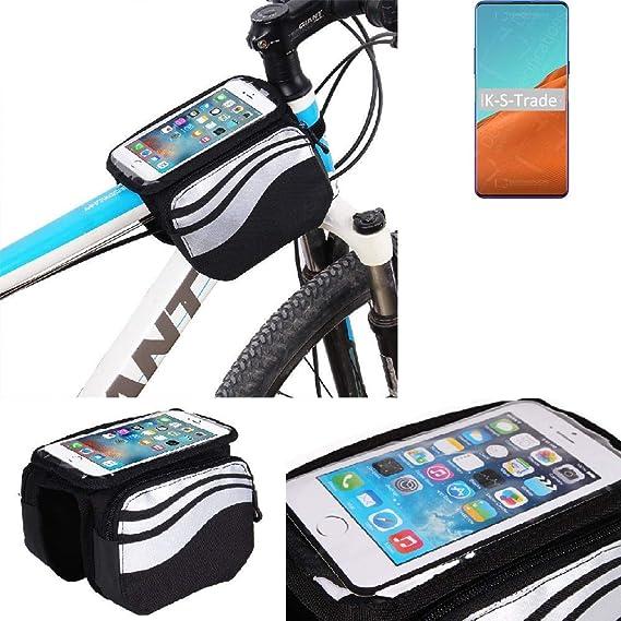 K-S-Trade® Bolso Funda Bicicleta para Nubia X 5G, Teléfono Móvil Funda Móvil Soporte Tubo Bici Ciclismo, Negro Y Plata, Impermeable Resistente Al Agua: Amazon.es: Electrónica
