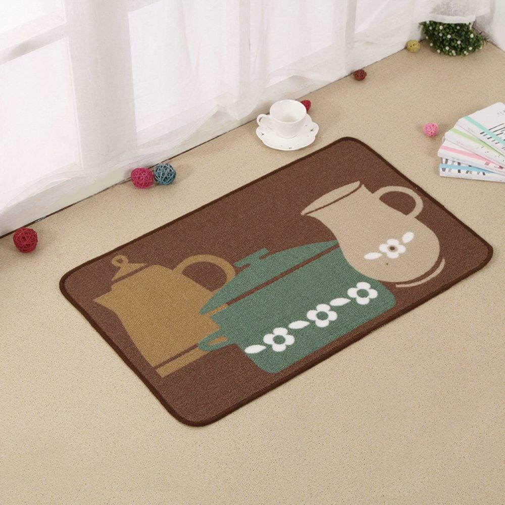 Carvapet 2 Piece Non-Slip Kitchen Mat Rubber Backing Doormat Runner Rug Set, Pots (19''x59''+19''x31'') by Carvapet (Image #5)