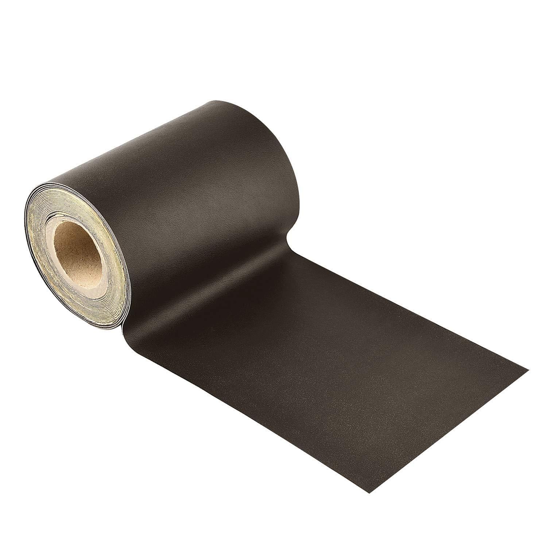Leather Repair Tape, Self-Adhesive Leather Repair Patch for Sofas, Car Seats, Handbags,Furniture, Drivers Seat,Dark Brown, 4 x 120 Inch