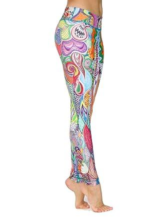 ec73186539d311 Niyama's Hakuna Matata Leggings - Printed Yoga Pants for Women Multiple  X-Small