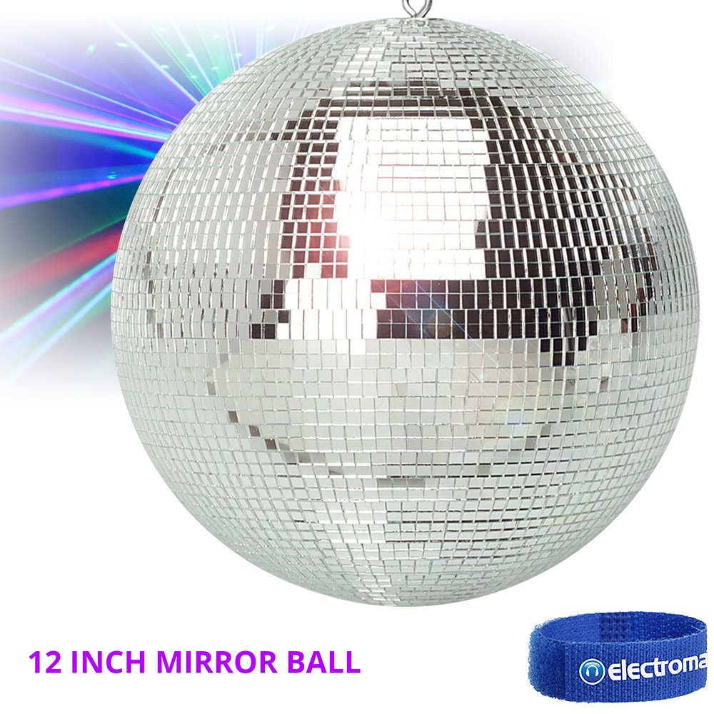 FX Lab Lightweight Silver Glitter Mirror Ball Wedding Party Disco Dance DJ (300mm 12') Electrovision Ltd