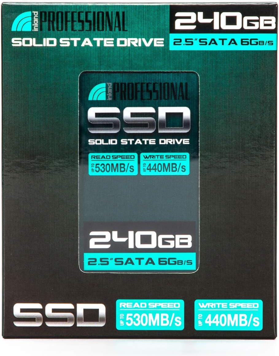 Inland Professional 3 Pack 240GB SSD 3D NAND SATA III 6Gb//s 2.5 7mm Internal Solid State Drive 3x240GB