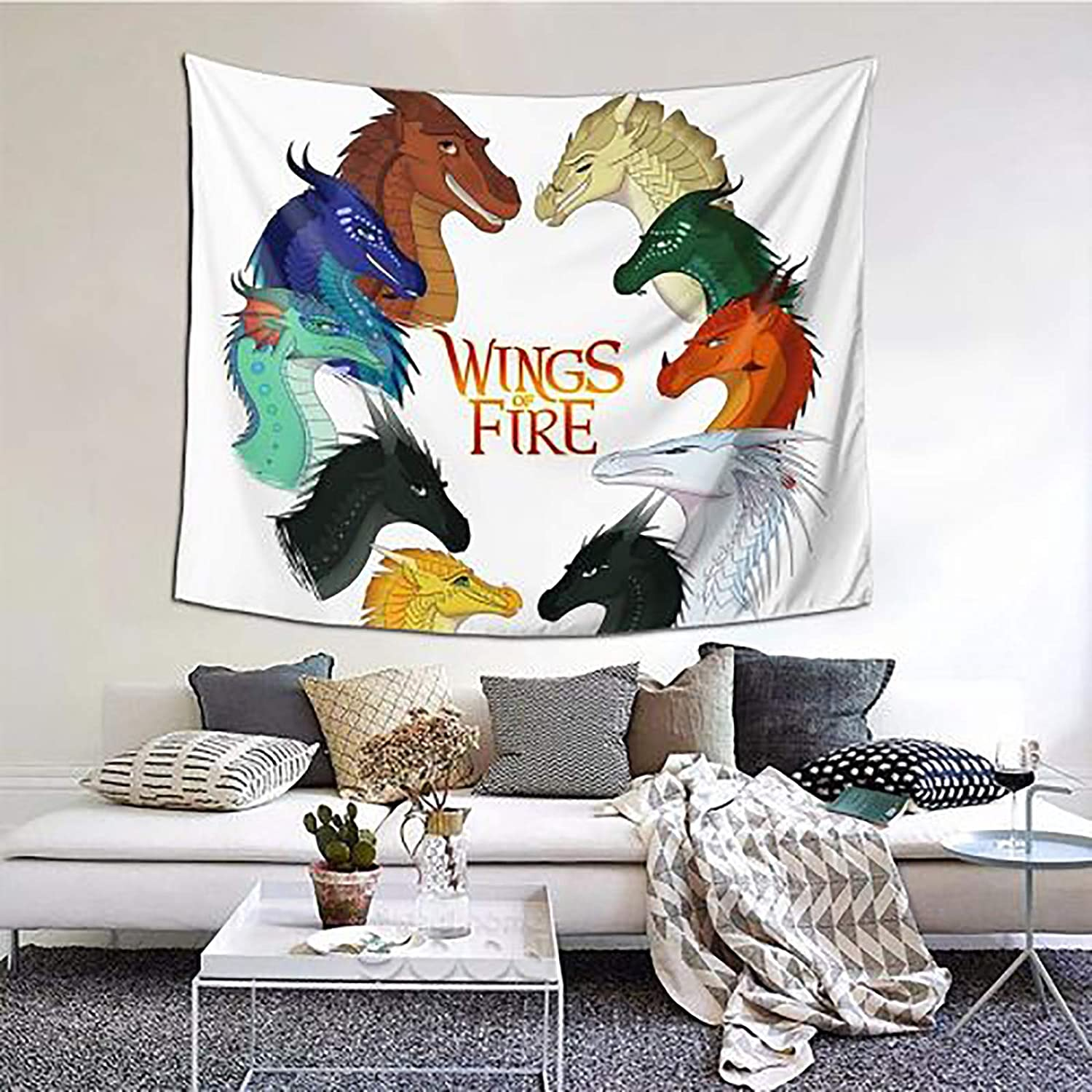 Wings Of Fire Jade Winglet Tapestry Wall Decor Soft Colorful Polyester Tapestries Decoration For Room 60X51 Inch