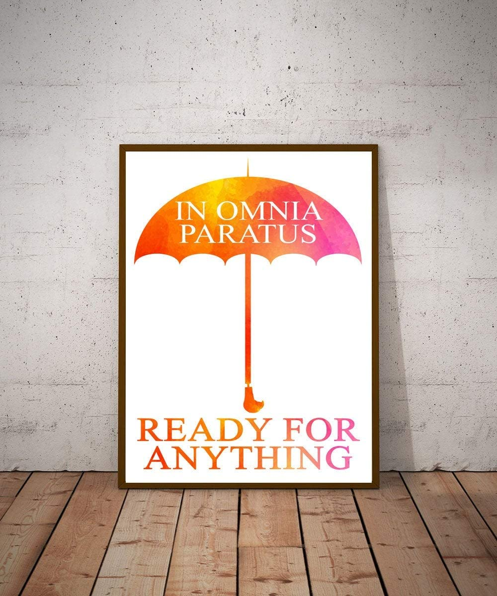 Girls Room Poster Feminist Poster In Omnia Paratus Ready For Anything Poster Girls Room Decor for Girl Dorm Room Poster Dorm Room Decor
