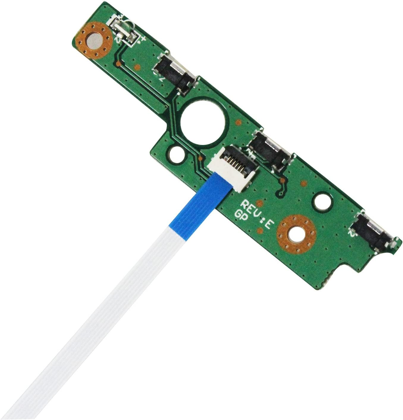 Zahara Power Button Board with Cable Replacement for Toshiba P55W-B5220 P55W-B5224 P55W-B5318D P55W-B5112