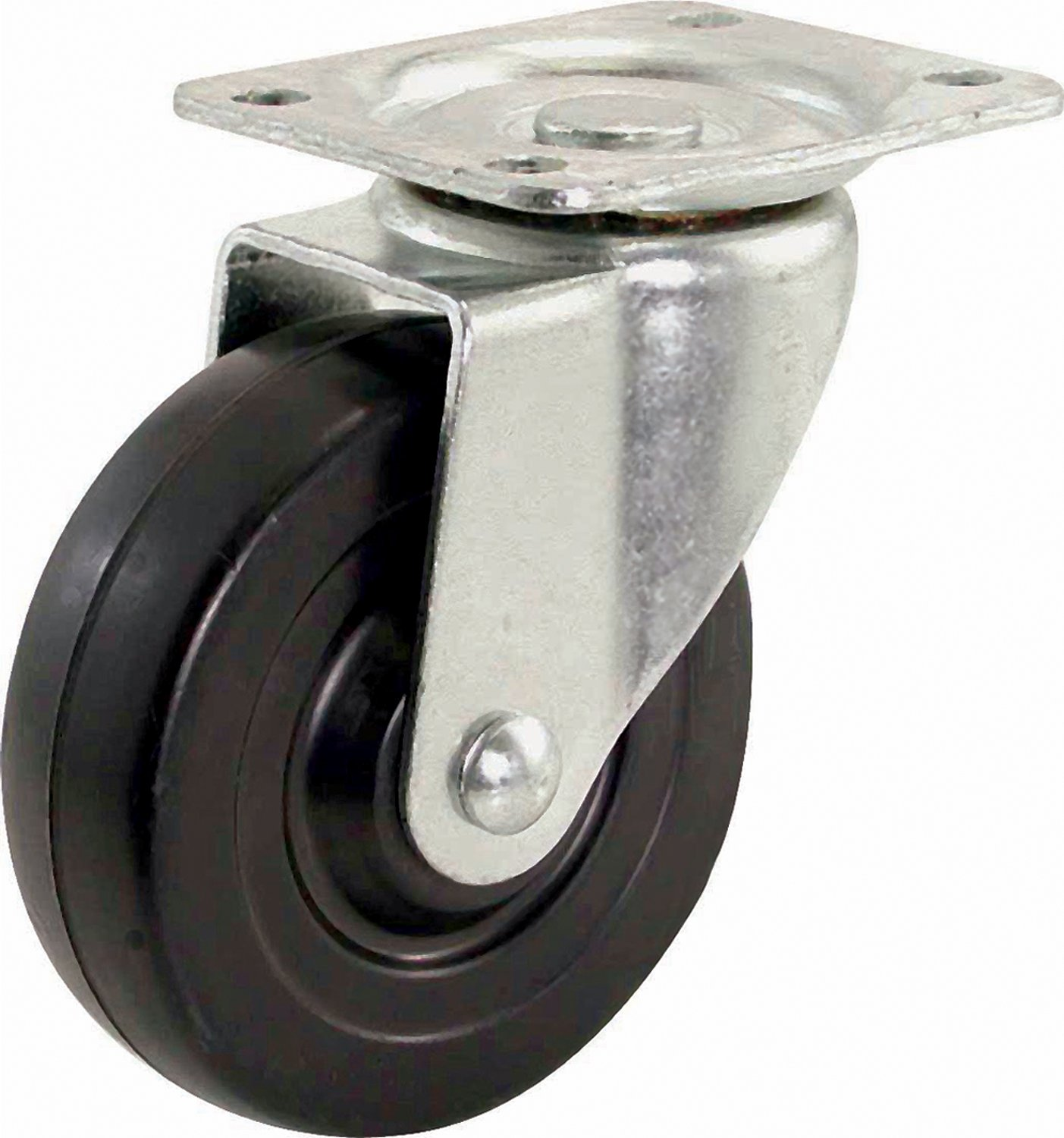 Shepherd Hardware 9014 3 Inch Swivel Plate Caster Soft Rubber Wheel 110 lb Load Capacity
