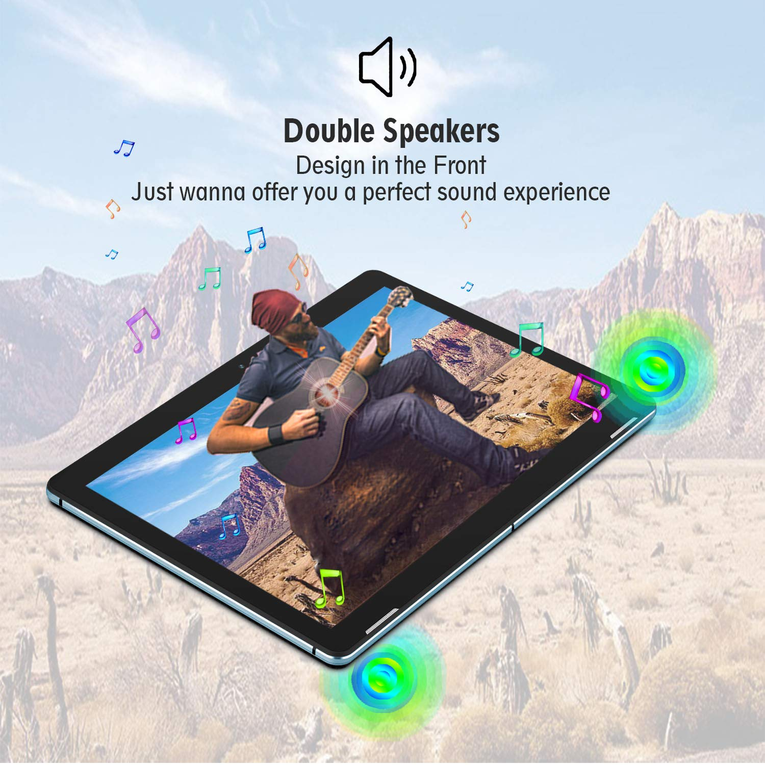 Winnovo T10 Tablet 10 inch Android 9.0 PC, 3GB RAM, 32GB Storage, Metal Frame, Dual Speaker, 5G WiFi, IPS Touchscreen, HDMI, GPS, Support Netflix, Play Store, CNN (Blue)