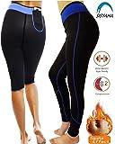 Sisyama Anti Cellulite Weight Loss Workout Exercise Fitness Hot Slimming Sweat Sauna Capris Pants