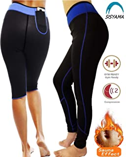 088f64554a Sisyama Anti Cellulite Weight Loss Workout Exercise Fitness Hot Slimming Sweat  Sauna Capris Pants