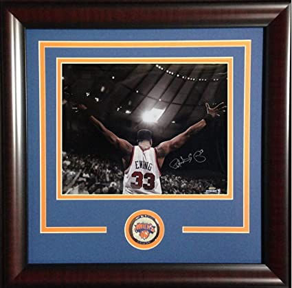 b7464c654f08a Patrick Ewing Autographed Signed 16x20 Chrome Photo Framed Knicks Coin HOF  Steiner Authentic Hof