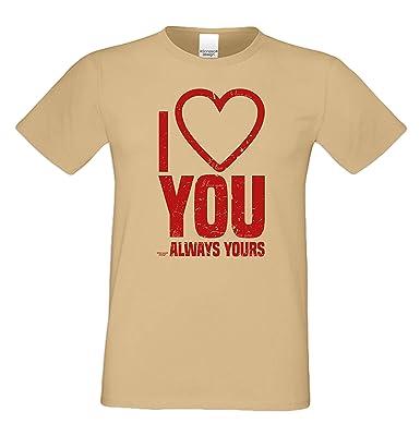 Geburtstagsgeschenk für Ihren Liebsten T-Shirt I love you Geschenkidee  Geburtstag Vatertag Übergröße für Männer