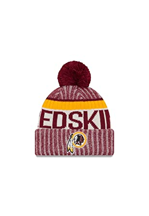 a05457905328de New Era Men's Men's Redskins 2017 Sideline Official Sport Knit Hat Burgundy  Size One Size at Amazon Men's Clothing store: