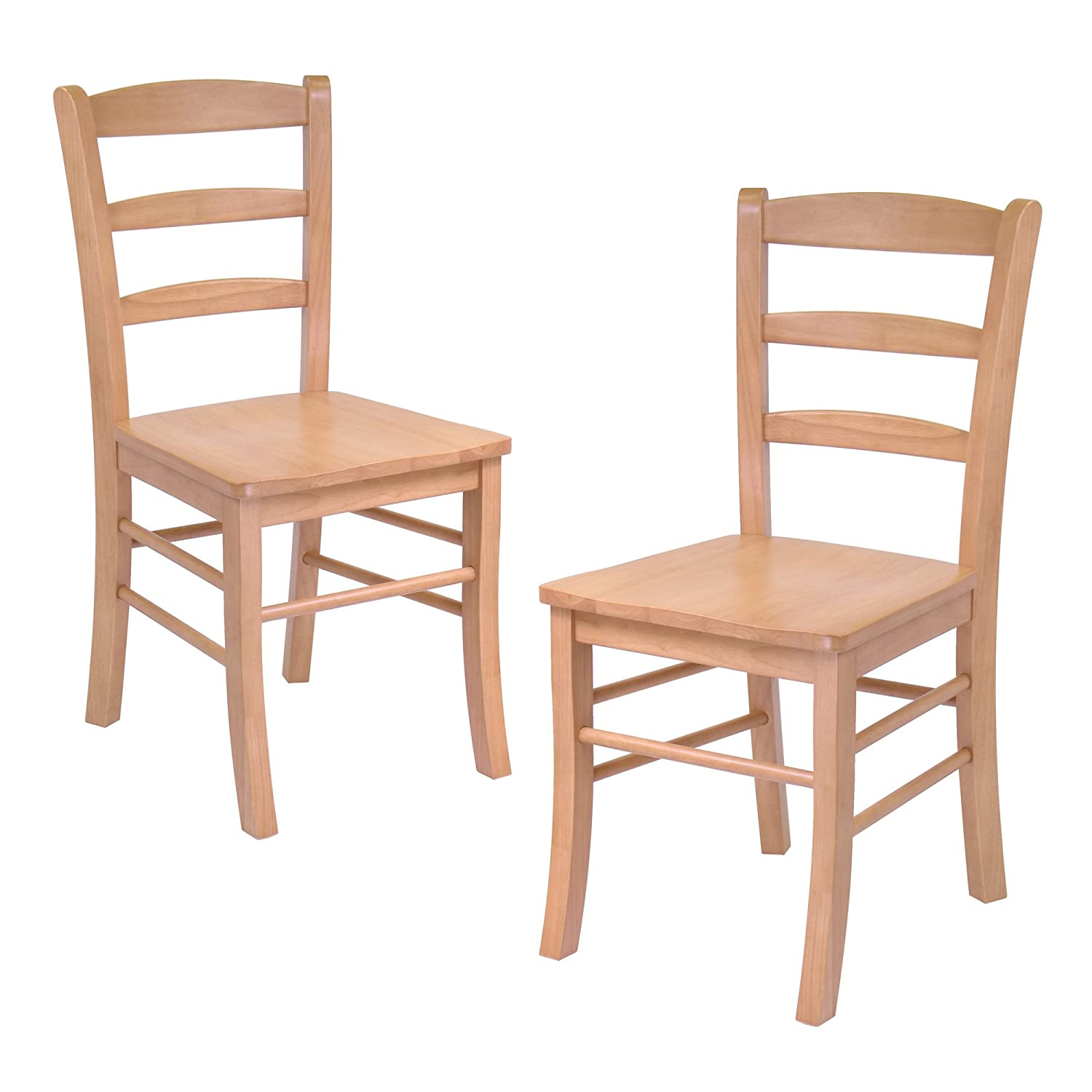 Amazon Hannah Dining Wood Side Chairs in Light Oak Finish
