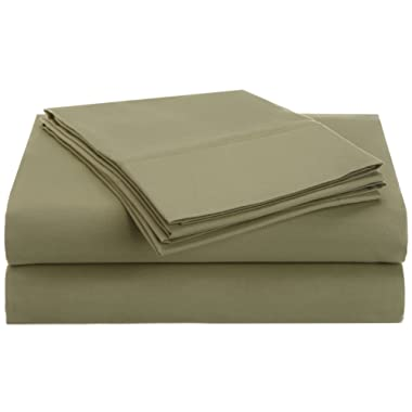 Superior 1500 Series Premium Quality 100% Brushed Soft Microfiber 4-Piece Luxury Deep Pocket Cooling Bed Sheet Set, Hypoallergenic, Wrinkle and Stain Resistant - Queen, Sage