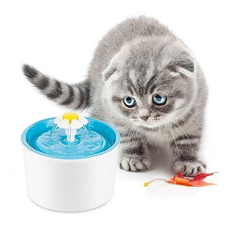 Vingtank Fuente automática de flores para gatos Mute dispensador de agua para mascotas Soporte 3 modos