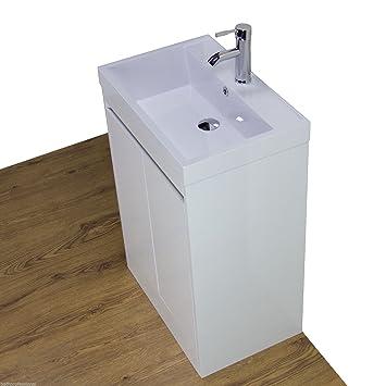 Top Waschkommode Unterschrank Waschbecken Badezimmer Weiß Boden VE67