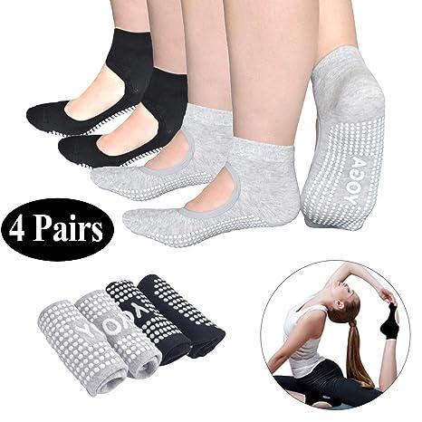 algod/ón agarre completo dedos antideslizantes tac/ón de masaje azul para gimnasio Kingnew Calcetines de yoga para mujer