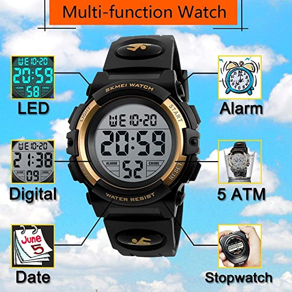 Farsler Reloj digital deportivo para niños fb836d0542fd