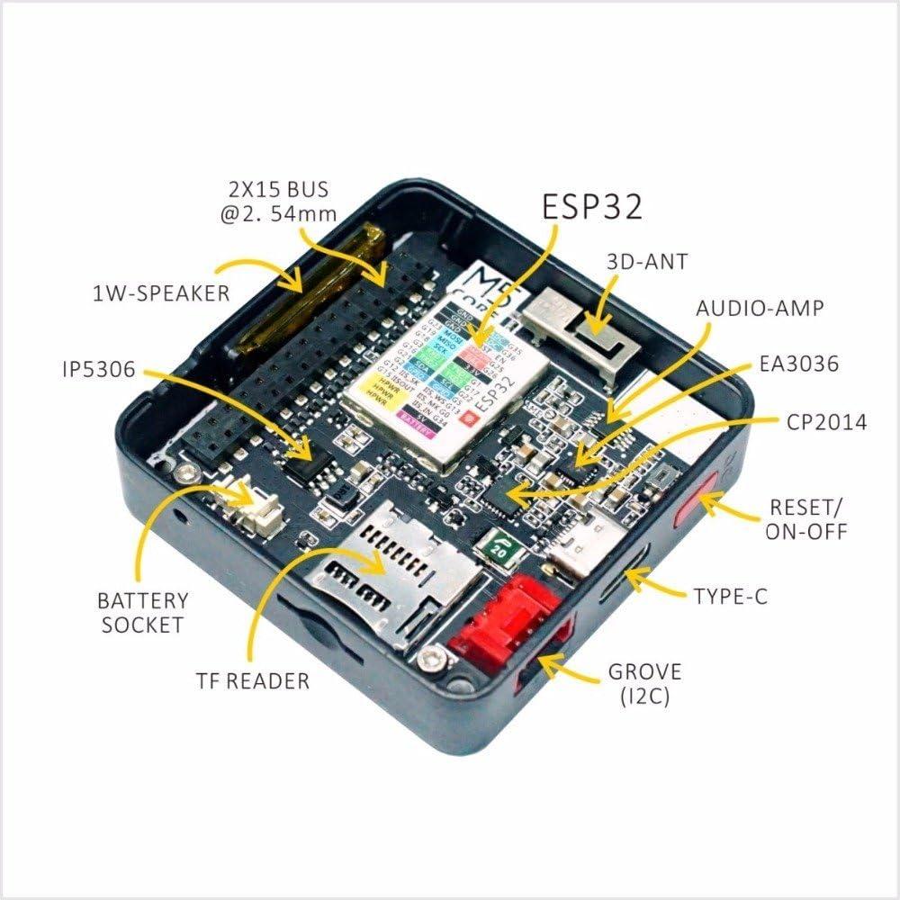 elinke M5Stack Extensible micro control module WiFi Bluetooth ESP32 development kit Built in 2 inch LCD ESP-32 for Arduino LCD ESP8266
