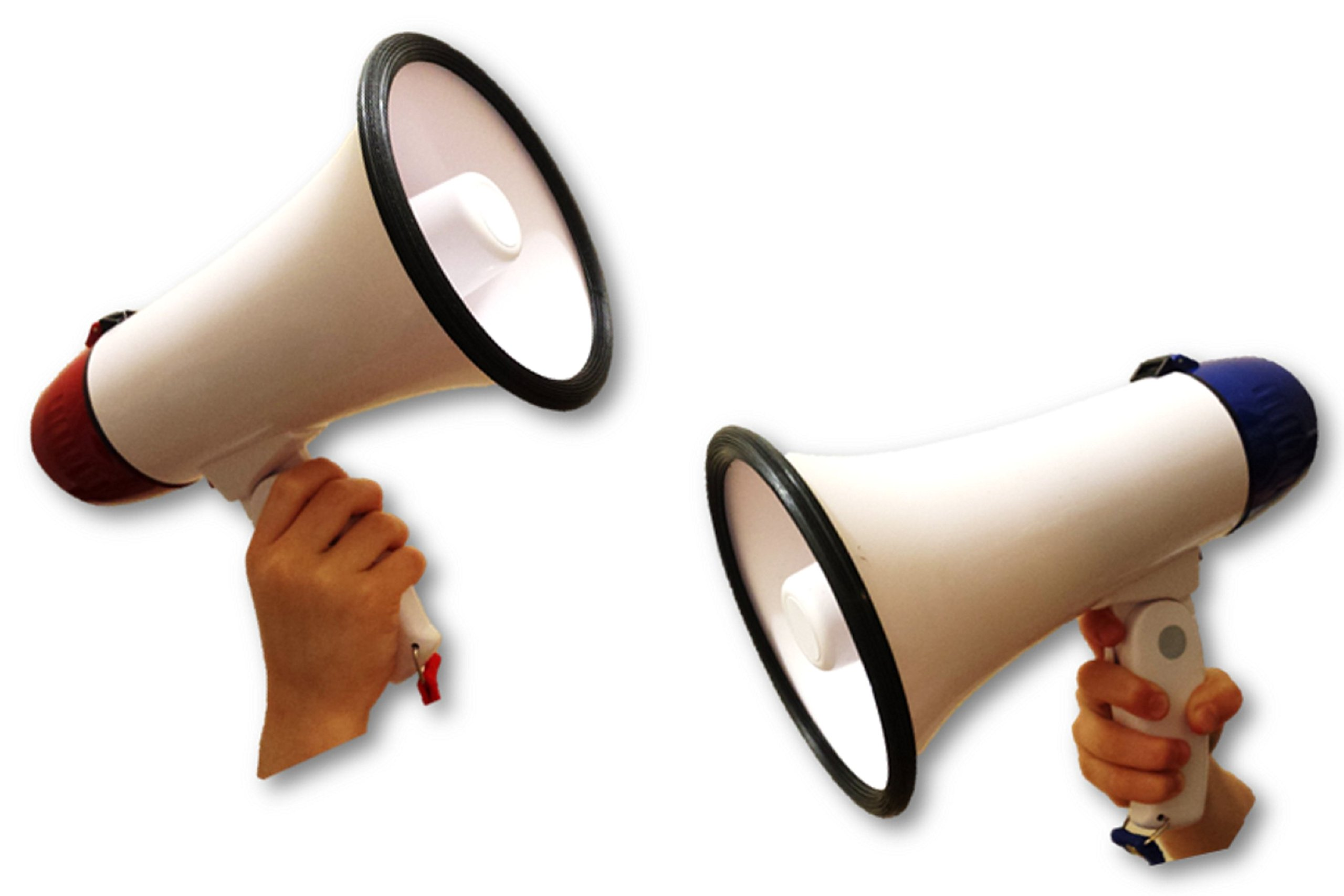 Playo Megaphone Speaker with Built-in Siren - Megaphone Bullhorn Great for Sports Cheerleading,Cheerleading Fans and Coaches or for Safety Drills (Assorted Colors)