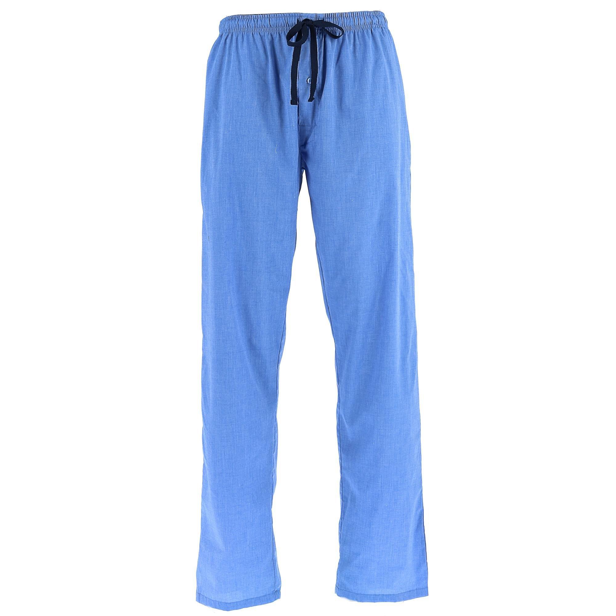 Hanes Men's Tall Size Woven Lounge Pajama Pants, XLT, Blue