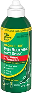 MagniLife DB Pain Relieving Foot Spray Cooling Homeopathic Relief - Naturally Soothes Foot & Leg Sensitivity, Pain & Discomfort - Suitable for Diabetic Skin - 3oz