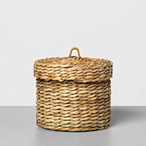 Hearth & Hand with Magnolia New Bathroom Storage Collection (Small, Woven Bath Storage Canister)