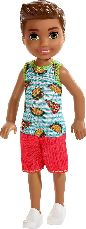 Barbie Club Chelsea Doll, 6-inch Brunette Boy Doll in Food-Themed Look
