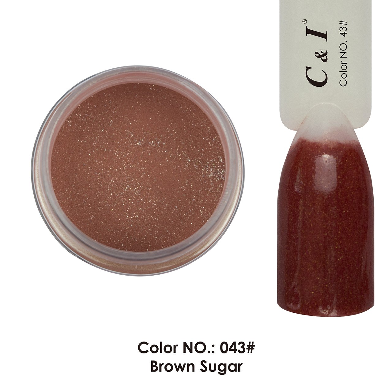 C & I Dipping Powder Color No.043 Brown Sugar Red Color System Fulei Trading