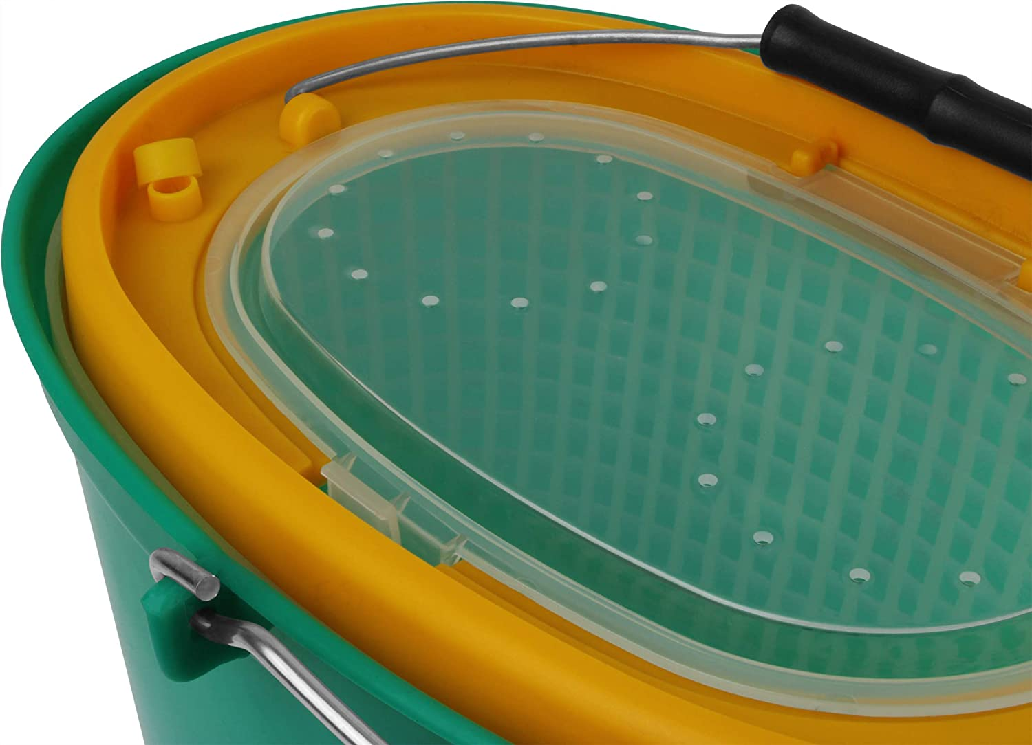 Storfisk fishing /& more Bait Fish Bucket with Hinged Lid and Strainer Insert