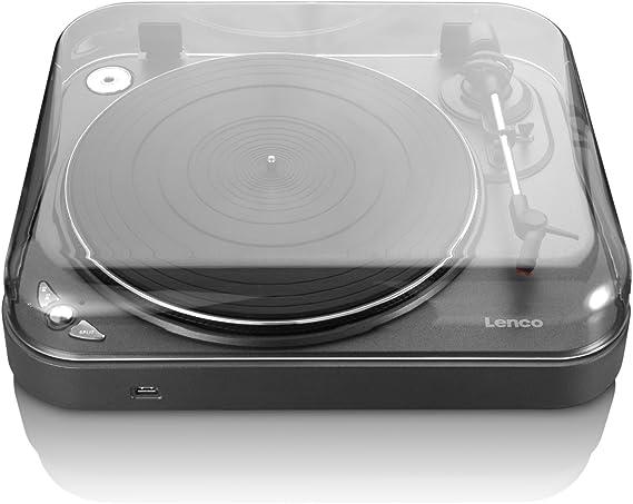 Lenco L-83 - Tocadiscos para equipo de audio (230 V, 50 Hz), gris ...