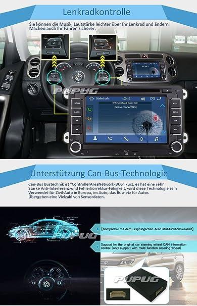 Eincar 2 DIN Coche Reproductor de DVD para Volkswagen Golf Jetta Passat del Polo Escarabajo Touran con 7 Pulgadas de Pantalla táctil Digital de 8 GB Sistema ...