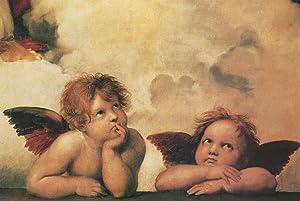 Raphael Winged Cherubs On Elbows Cool Wall Decor Art Print Poster 36x24