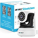 Wireless WiFi IP Security Camera - GENBOLT Indoor Dog Camera Night Vision Pan Tilt CCTV Spy Camera 1080P for Home Surveillance GB102S (2019 New Design), Two Way Audio Motion Detection Remote Security Webcam,Baby Monitor Including 40 Feet Night Vision, Free Mount Brackets, 64GB Storage(Max Support), 3 dBi Antenna, 355 Degree View Angle, 2 Megapixel Lens, Heavy-Duty Housing, 1000+ Instagram Likes, 24-Hour Customer Support, 30-Day Money Back Guaranteed, 2-Year Warranty
