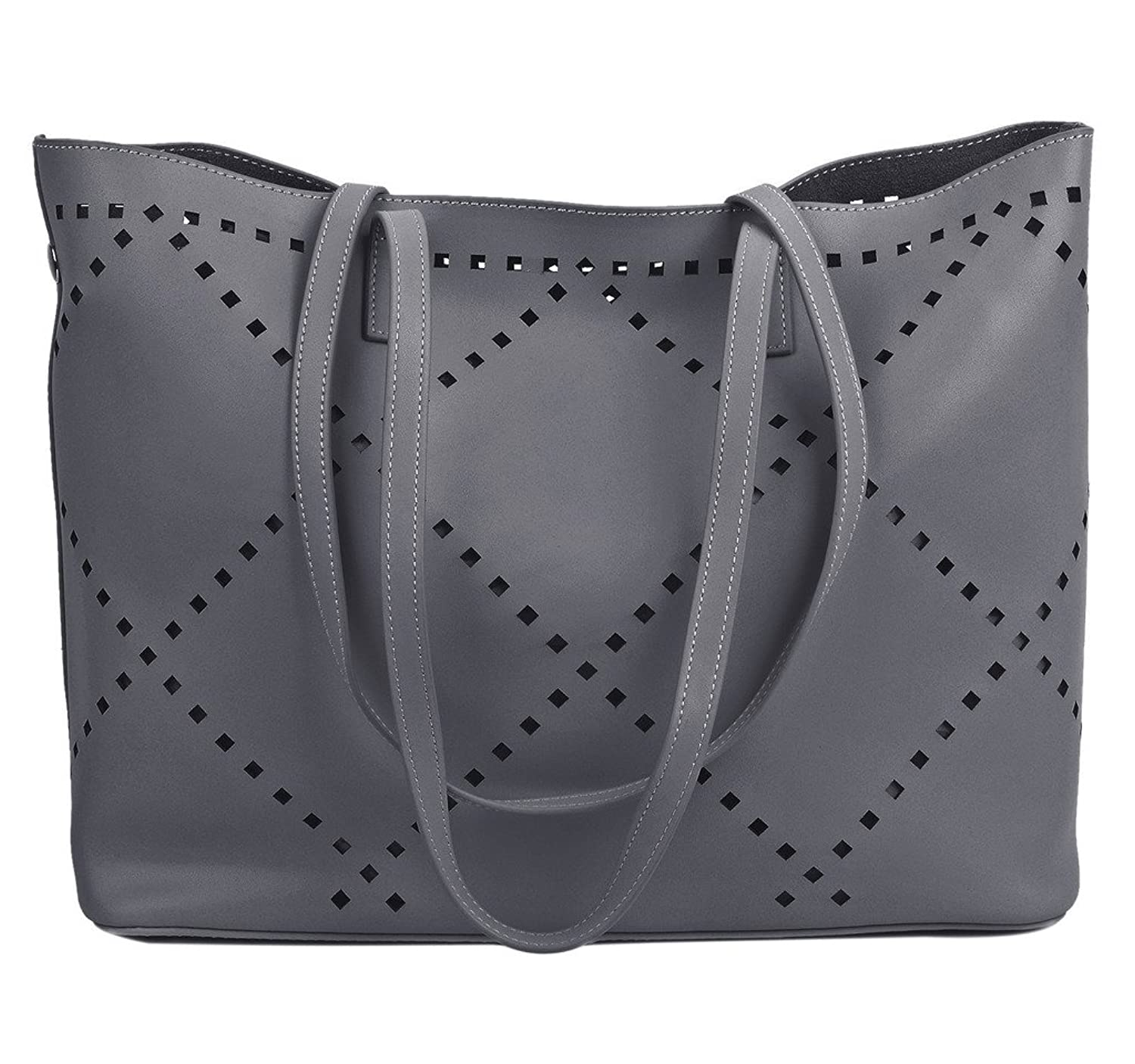 YALUXE Women's Urban Style Leather Tote Shoulder Bag