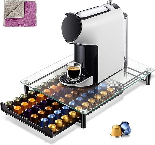 Mastertop Nespresso - Soporte para cápsulas de café con 2 paños de limpieza: Amazon.es: Hogar