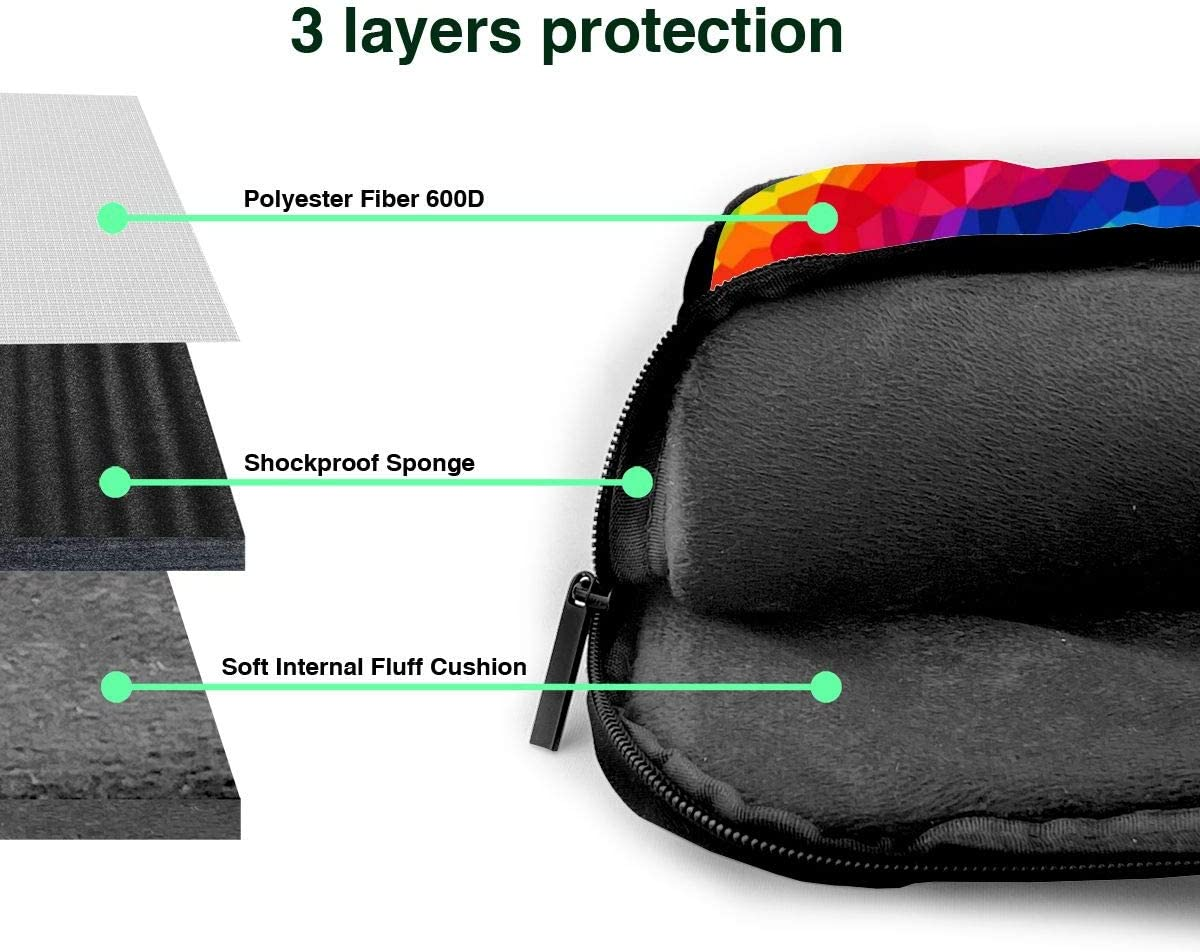 NEPower Laptop Tote Bag Swirl Rainbow Tie Dye Durable Laptop Messenger Bag with Handle Fits 13-15.6in Notebook for Office