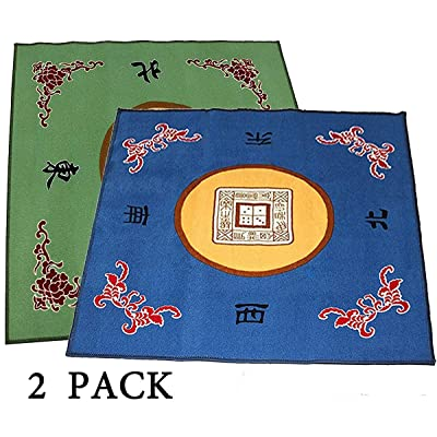 "(2 Pack) 31.5"" Table Cover - Slip Resistant Mahjong Game / Poker / Dominos / Card Tablecovers Table Top Mats 2 Pack (at random colors): Toys & Games"