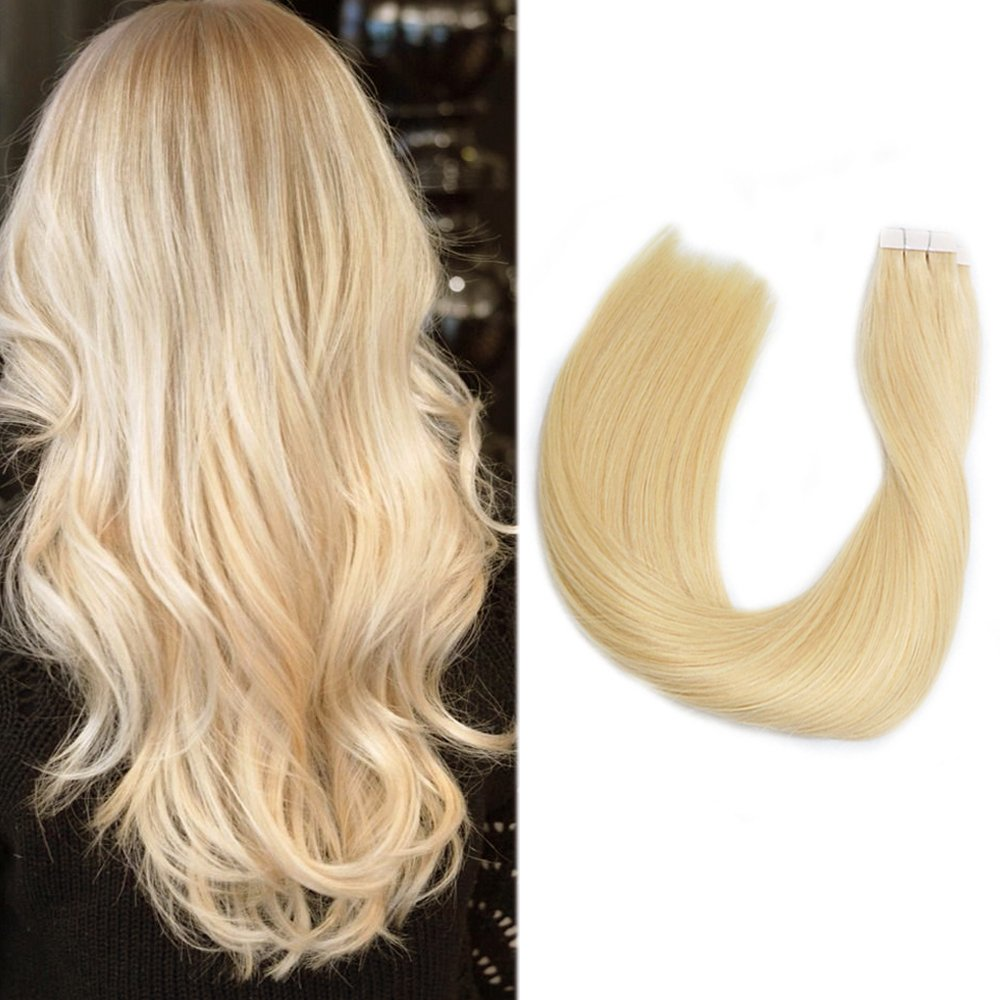 Amazon Tape In Hair Extensions Blonde Human Hair 16 30grams