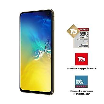 Samsung Galaxy S10e 128GB SM-G970F Hybrid/Dual-SIM (GSM Only, No CDMA)  Factory Unlocked 4G/LTE Smartphone - International Version (Canary Yellow)